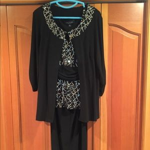 Other - 3 piece pant suit with sequins! Formal and classy